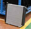 Aluminum radiator with superb protection against heat